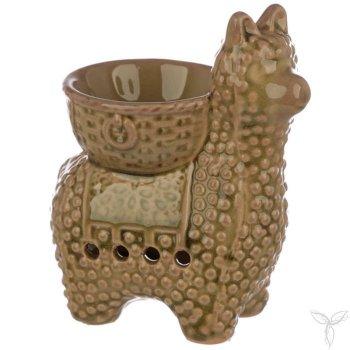 brûle-parfums pour fondants parfumés - lama beige foncé 1 - aux essences elfiques