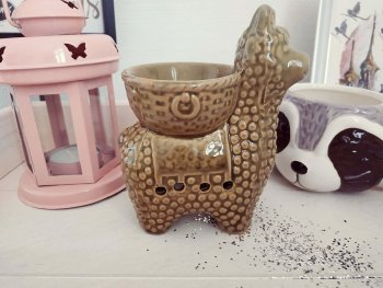 brûle-parfums pour fondants parfumés - lama camel 1 - aux essences elfiques