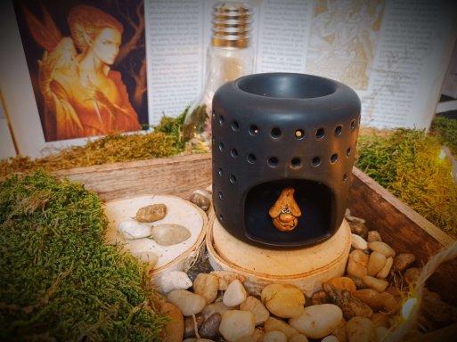 brûle-parfums en céramique laquée pour fondants parfumés - Modèle Coliseo noir