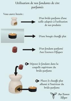 guide d'utilisation des fondants parfumés Aux Essences Elfiques